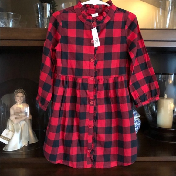 Baby Gap Buffalo Plaid Dress 2T Toddler Fall NWT!!